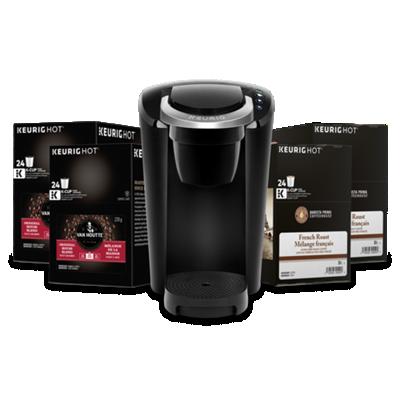 Keurig® K-Compact Bundle (Black), Van Houtte® & Barista Prima Coffee House® K-Cup® Pods