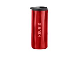 14oz. Faceted Travel Mug Red
