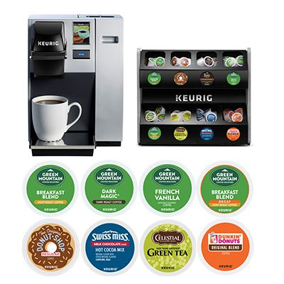 Keurig® K-150P Commercial Coffee Maker Installed with 8 Boxes K-Cup® Pods Starter Bundle
