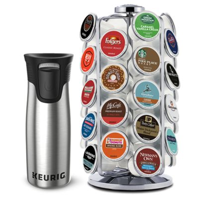Keurig® Pod Carousel & Travel Mug Bundle